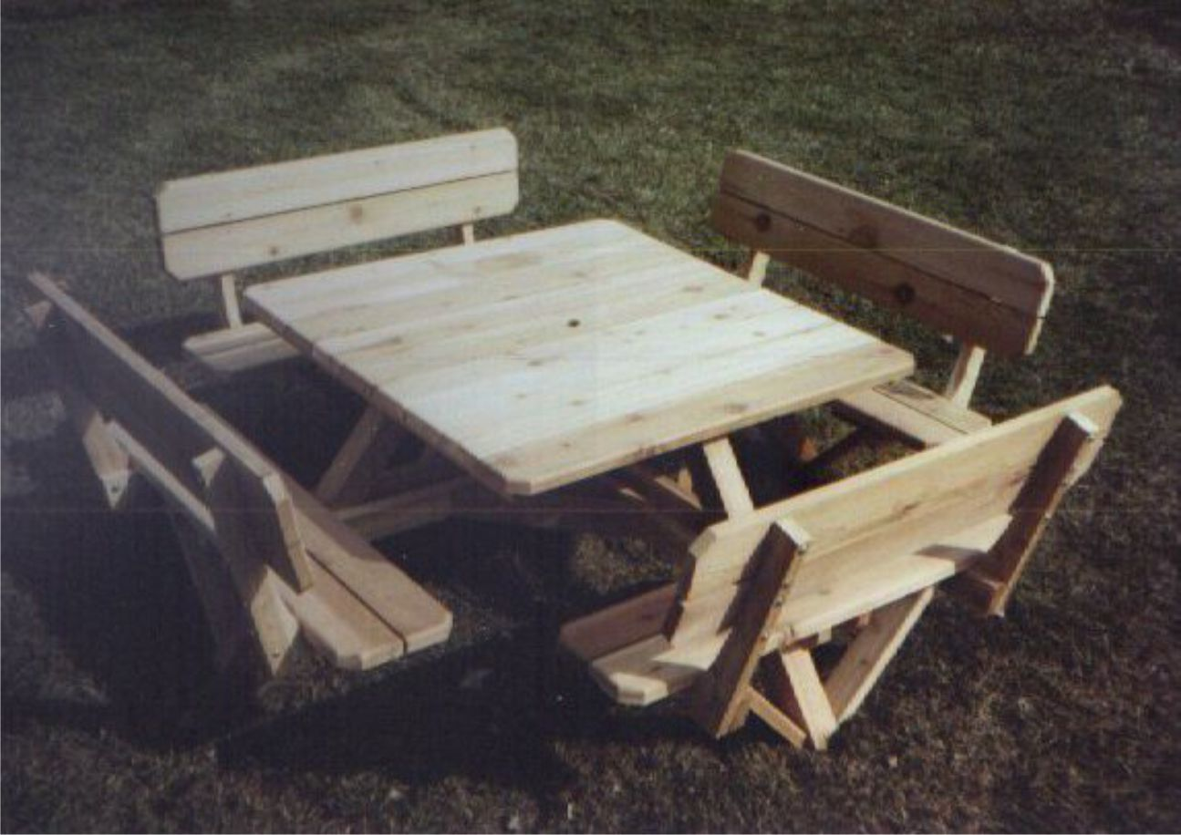 PDF DIY Downloadable Square Picnic Table Plans Download do it yourself ...